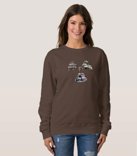Ladies' Chocolate Radiation Symbol Sweatshirt