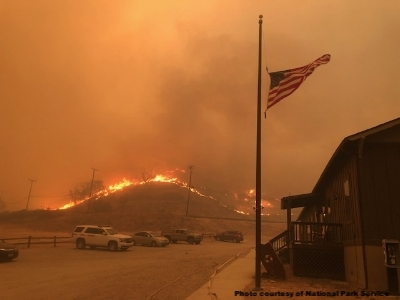 Paramount Ranch during the Woolsey Fire