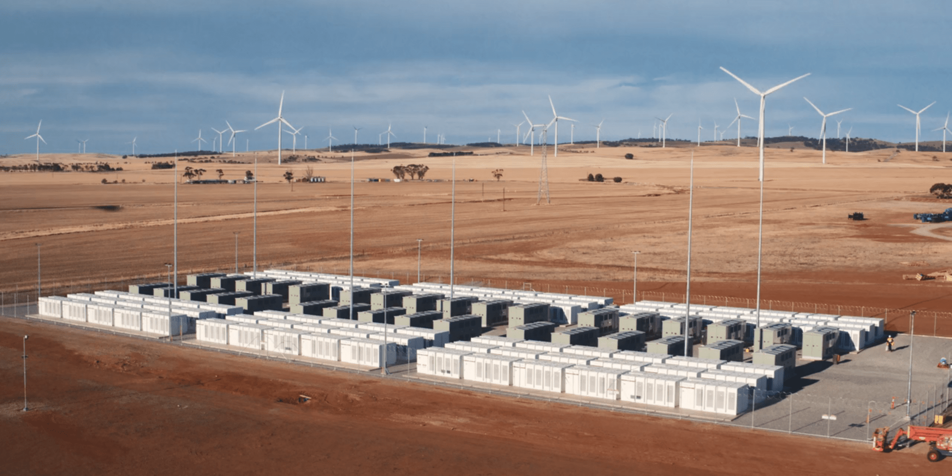 The Hornsdale Battery Storage Facility in South Australia. Photo from Electrek.com