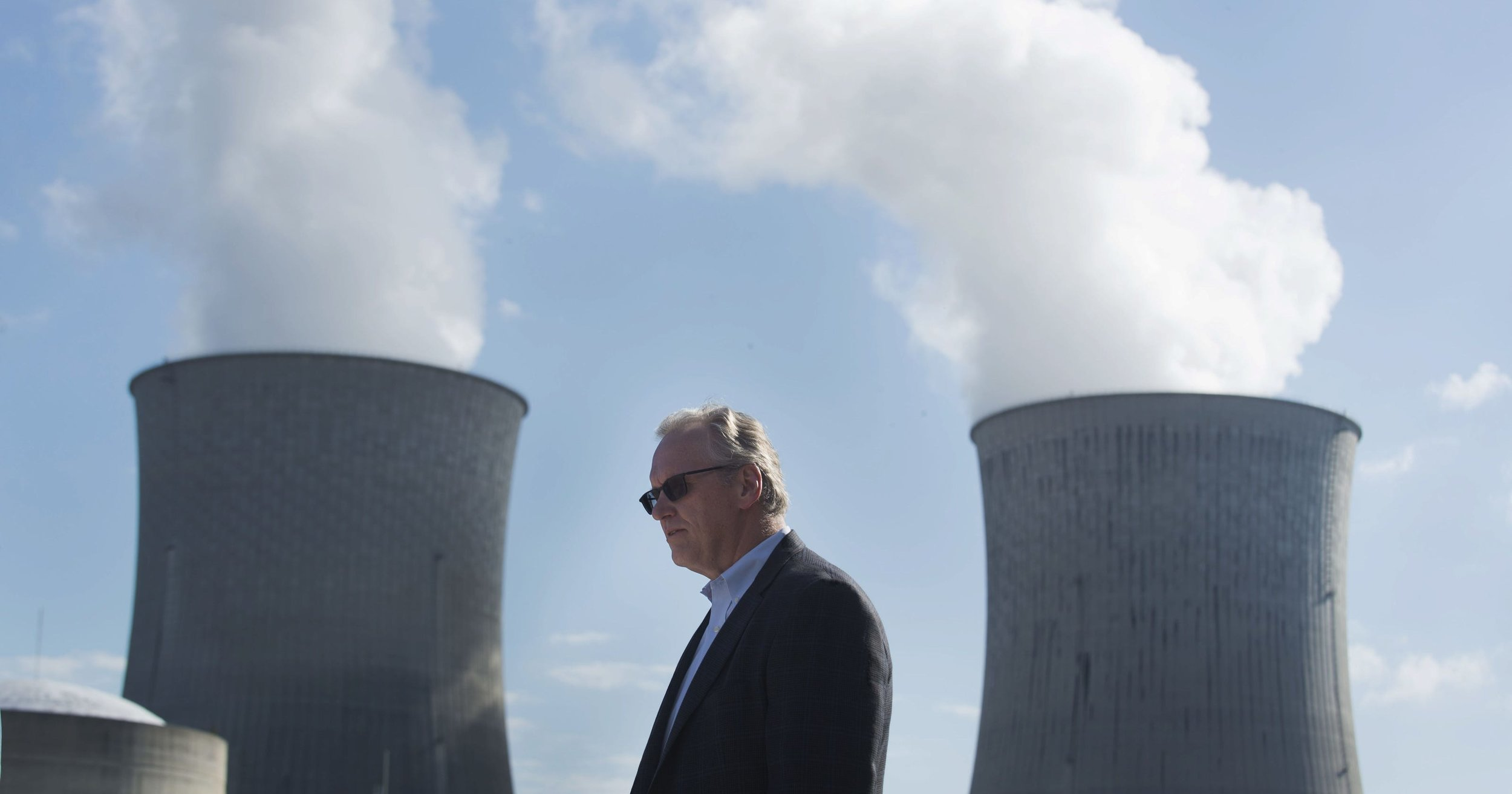 Photo  Credit : Bill Johnson, president and CEO of TVA, announces that the Watts Bar Unit 2 is now commercially operational. PAUL EFIRD/NEWS SENTINEL