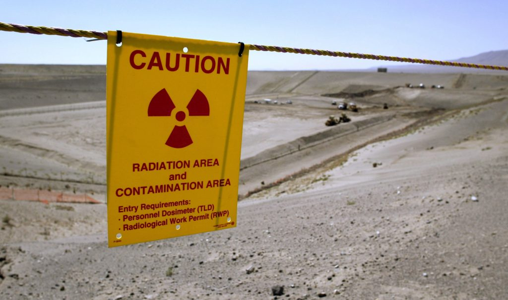 The Environmental Restoration Disposal Facility is seen at the Hanford Nuclear Reservation near Richland, Washington. Photo taken in 2005.  Photo  by Jeff T. Green/Getty Images