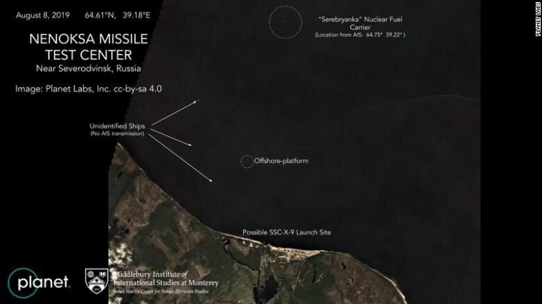 Satellite photo of Nenoksa area of Russia. ( Wikipedia )