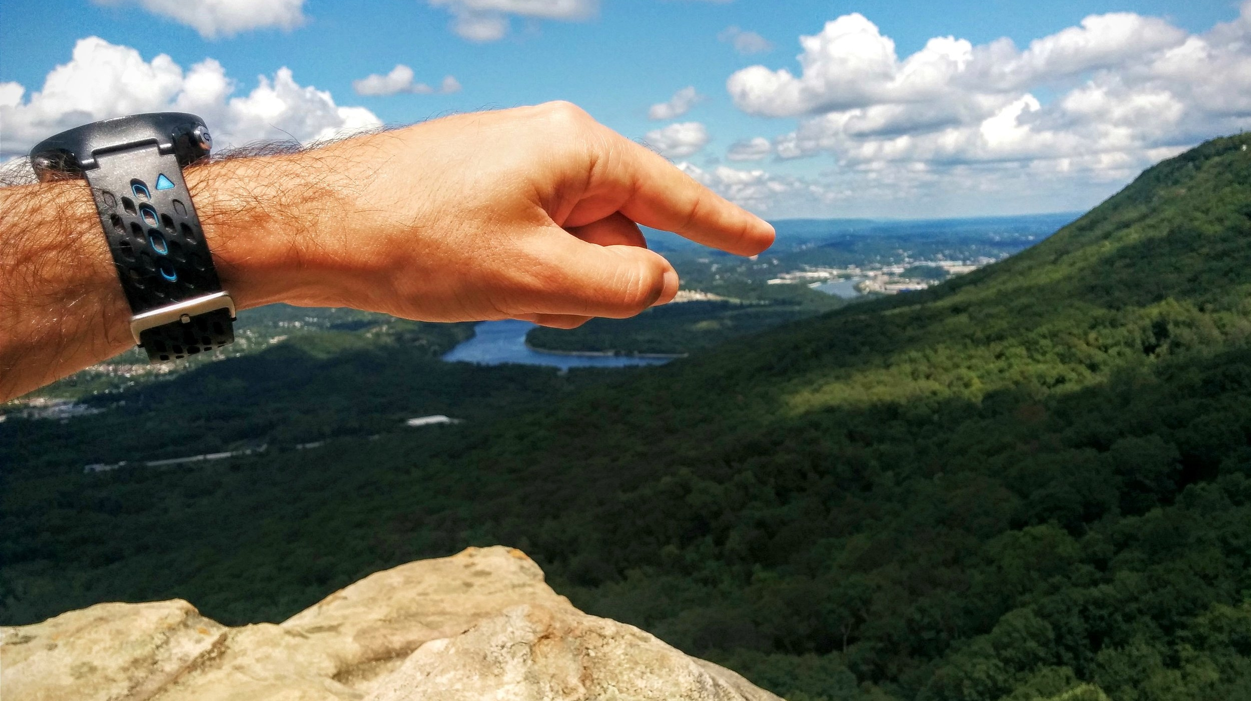 The view of Chattanooga from Sunset Rock