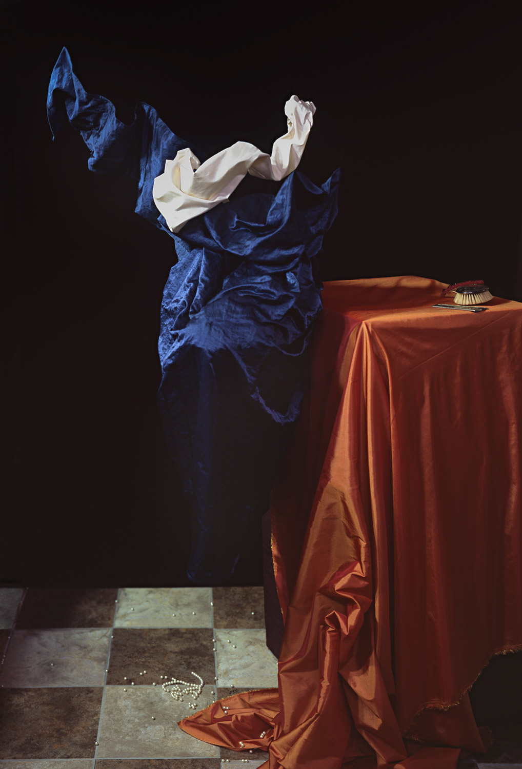 """Mary Magdalene Removing Her Jewels , color photograph, 30""""x44"""", 2010."""