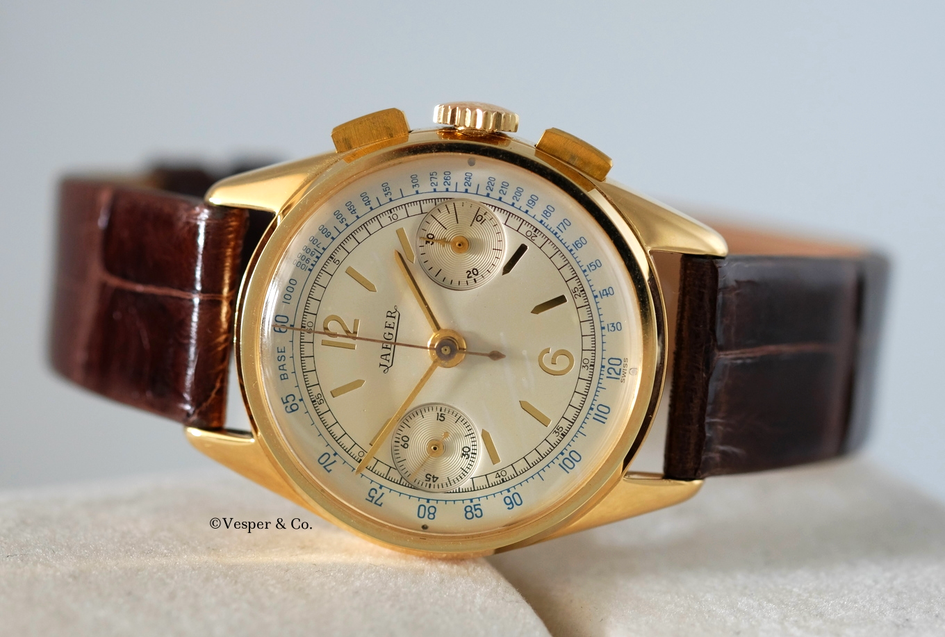 Jaeger Chronograph Gold   SOLD