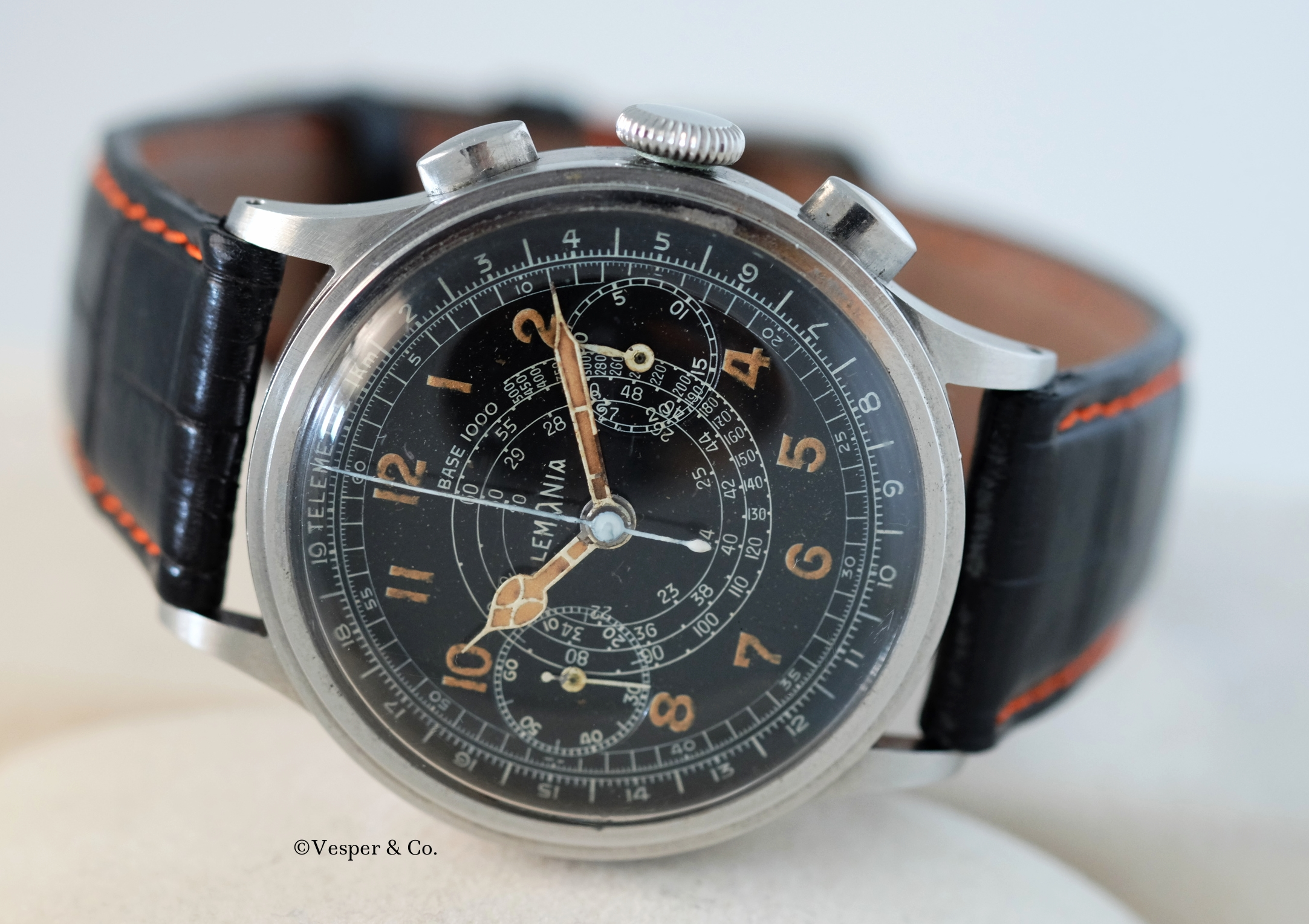 Lemania Chronograph Tachymeter Scale   SOLD