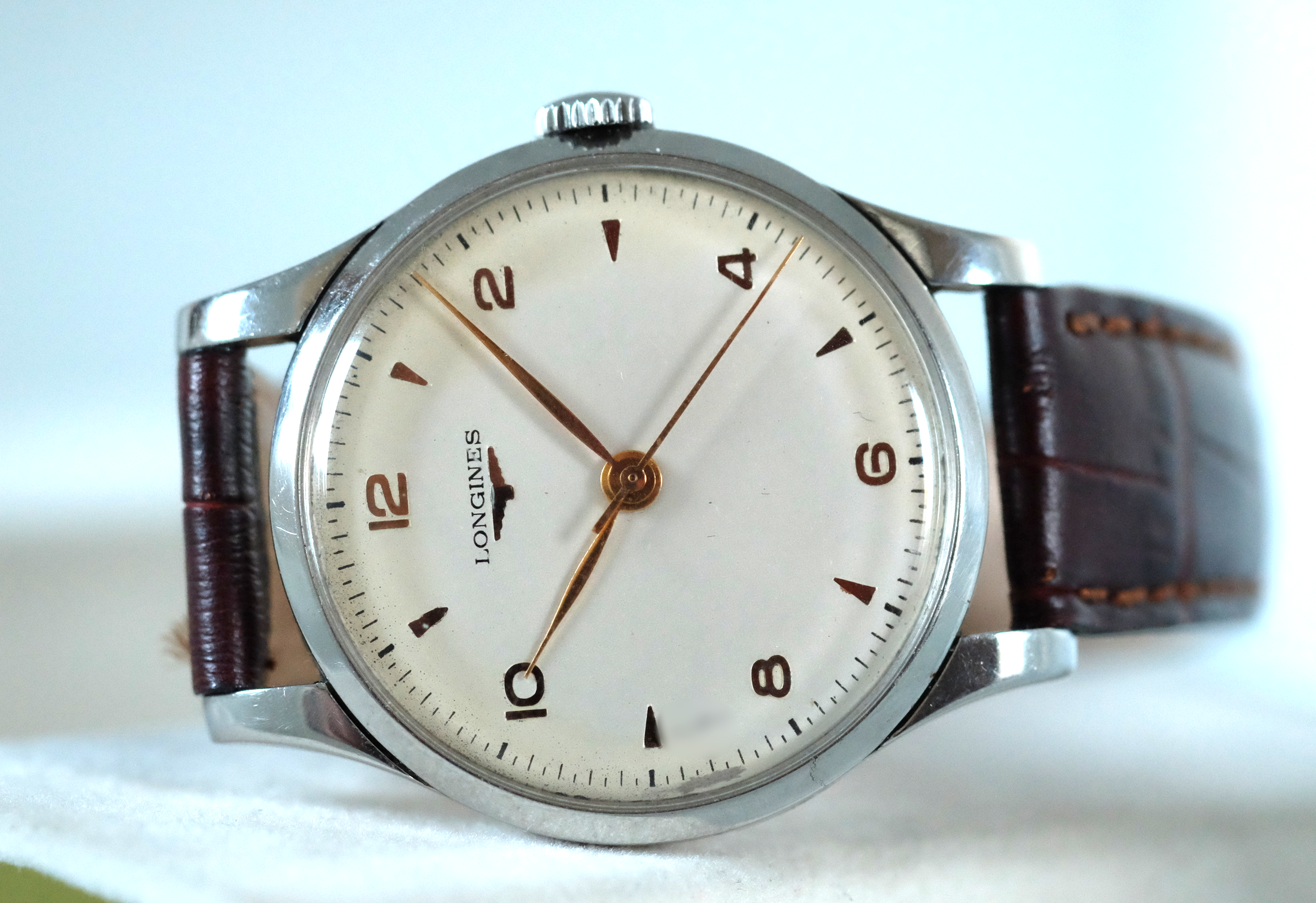 Longines Oversized 38mm Circa 1950's   SOLD