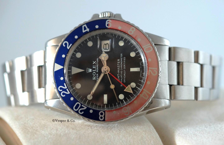 "Rolex GMT Steel ""Tropical""Ref. 1675   SOLD"