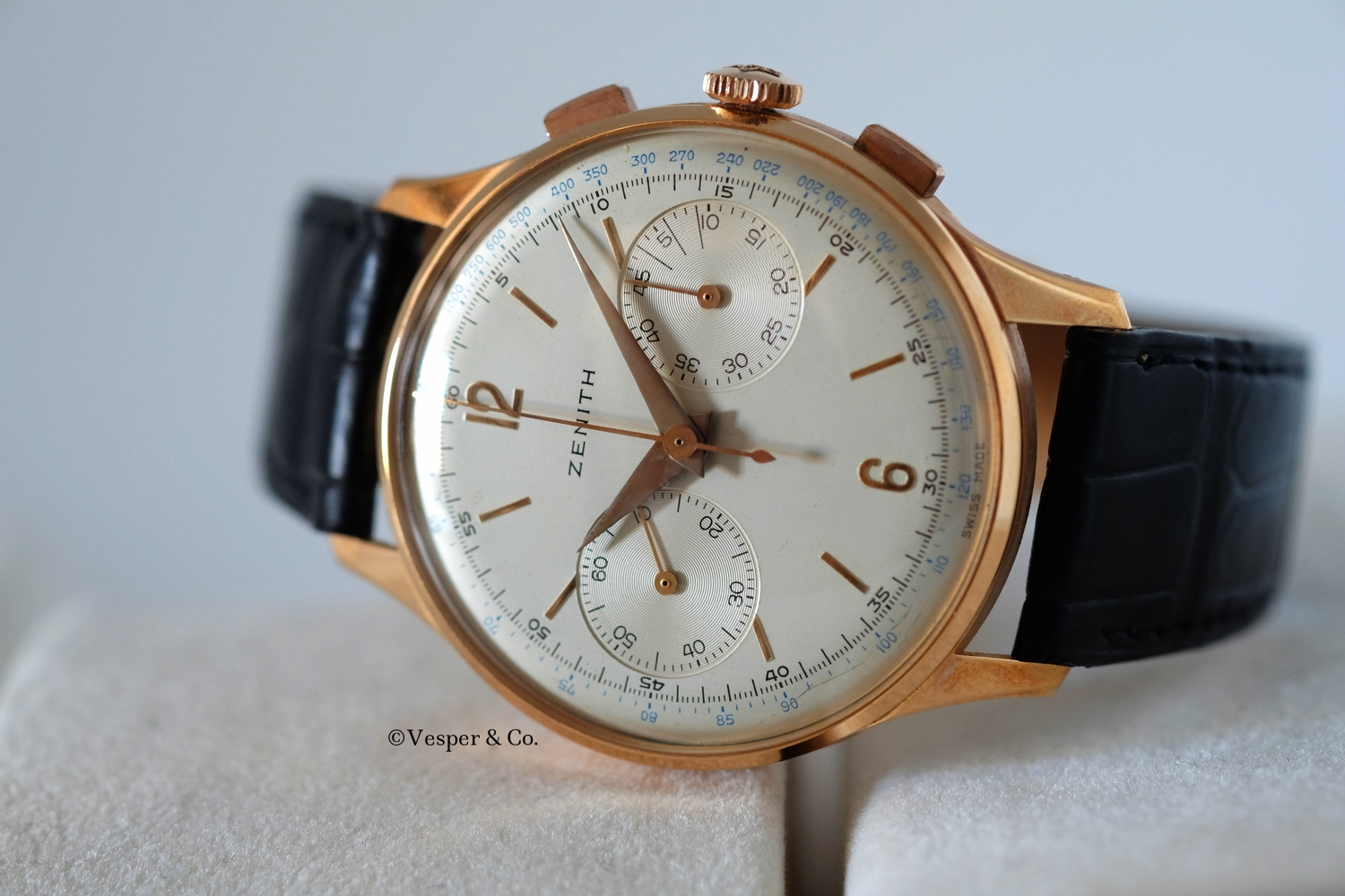 Zenith Chronograph Gold 1950's   SOLD