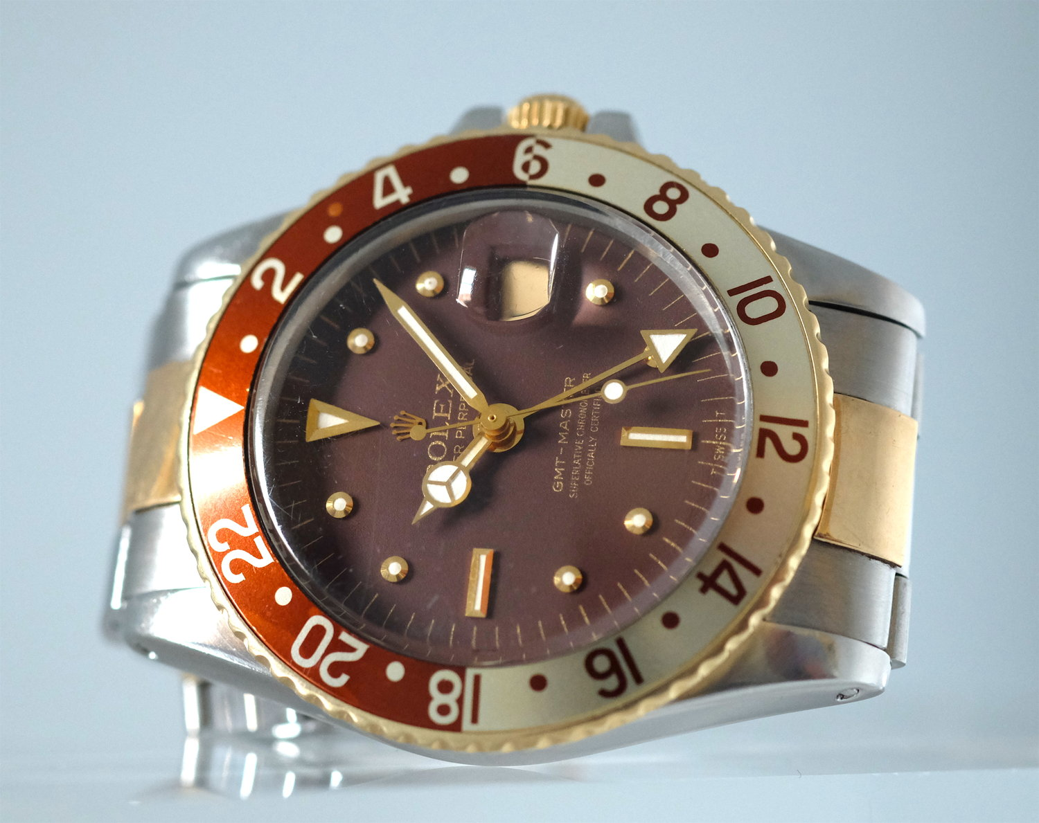 Rolex GMT-Master Root dial steel & gold Ref. 1675   SOLD