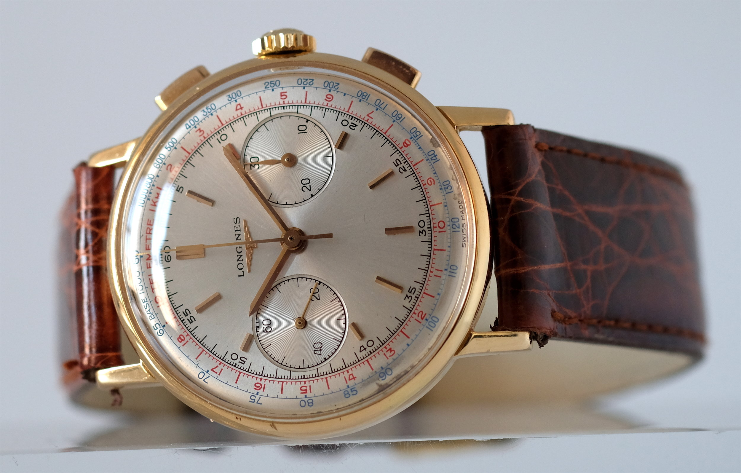 Longines Flyback Chronograph 18kt Gold *  SOLD