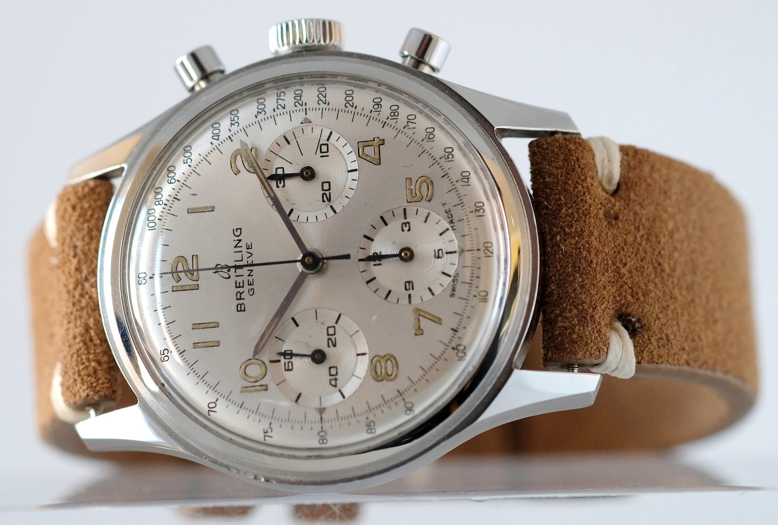 Breitling Silver dial Chronograph Ref. 765  SOLD