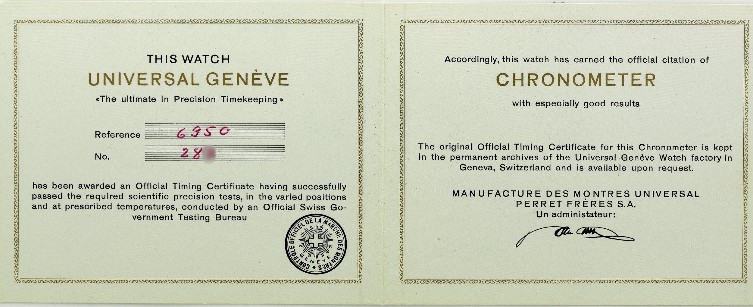 Chronometer-certificate-universal-geneve