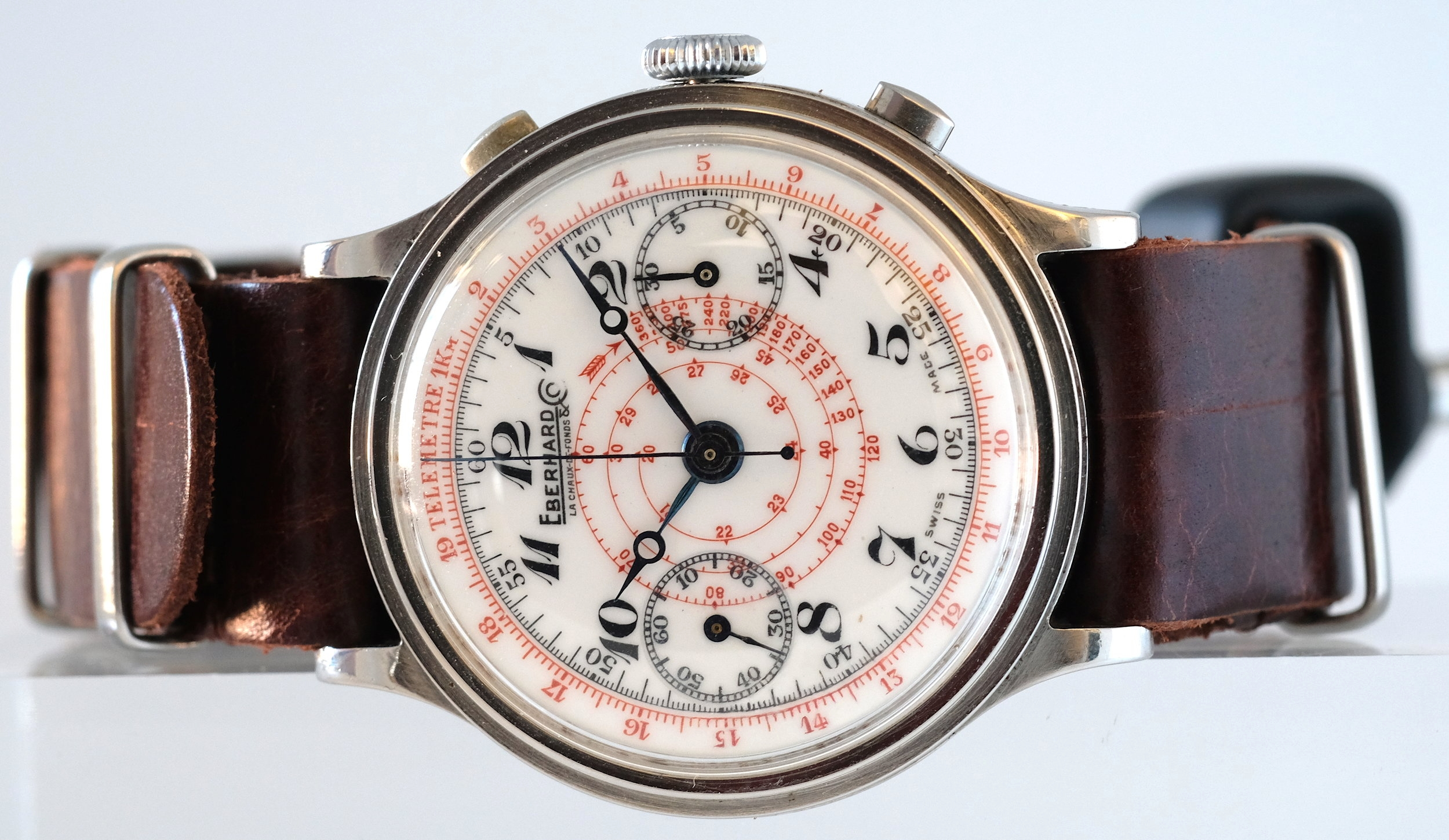 Eberhard & Co. pre-Extra Fort Chronograph   SOLD