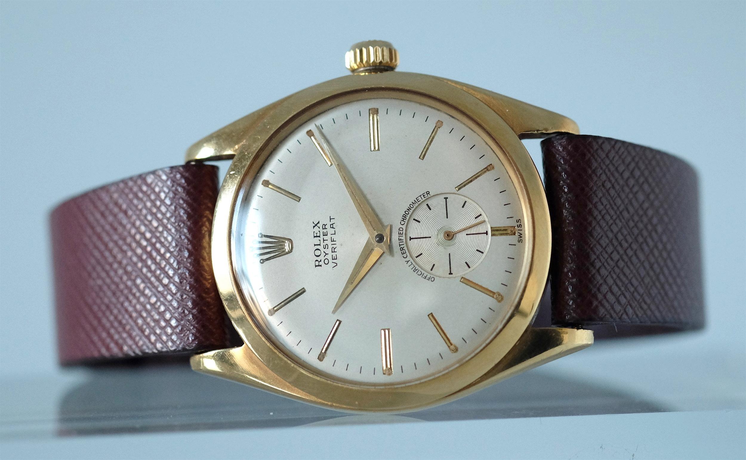 Rolex Oyster Veriflat Gold Ref. 6512   SOLD