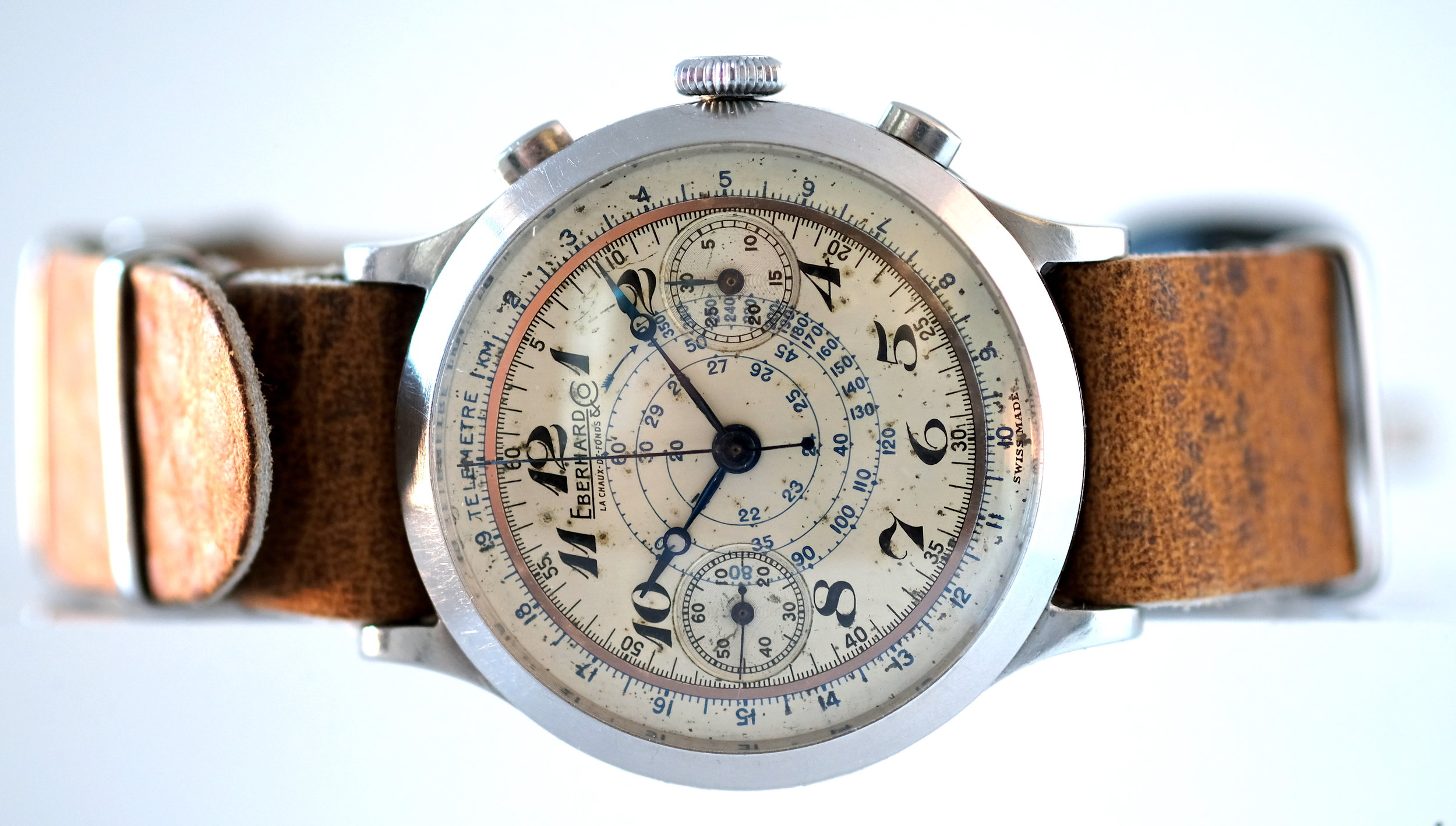 Eberhard & Co. Pre-Extra fort two tone dial   SOLD
