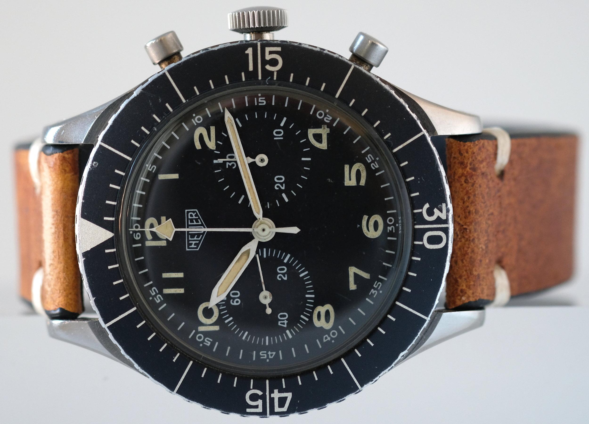 Heuer Bundeswehr Chronograph *  SOLD