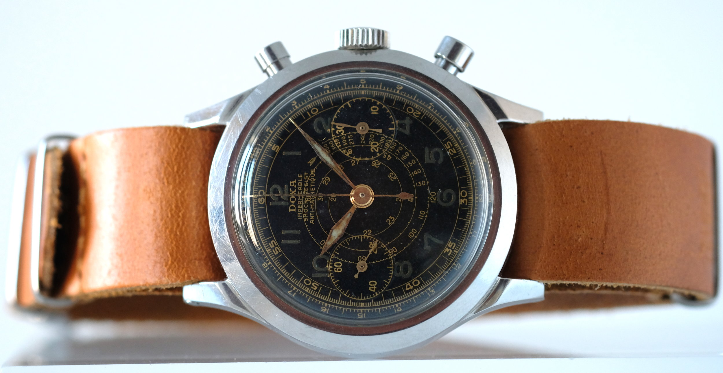 Doxa Oversized Chronograph w/ Gilt Dial*  SOLD