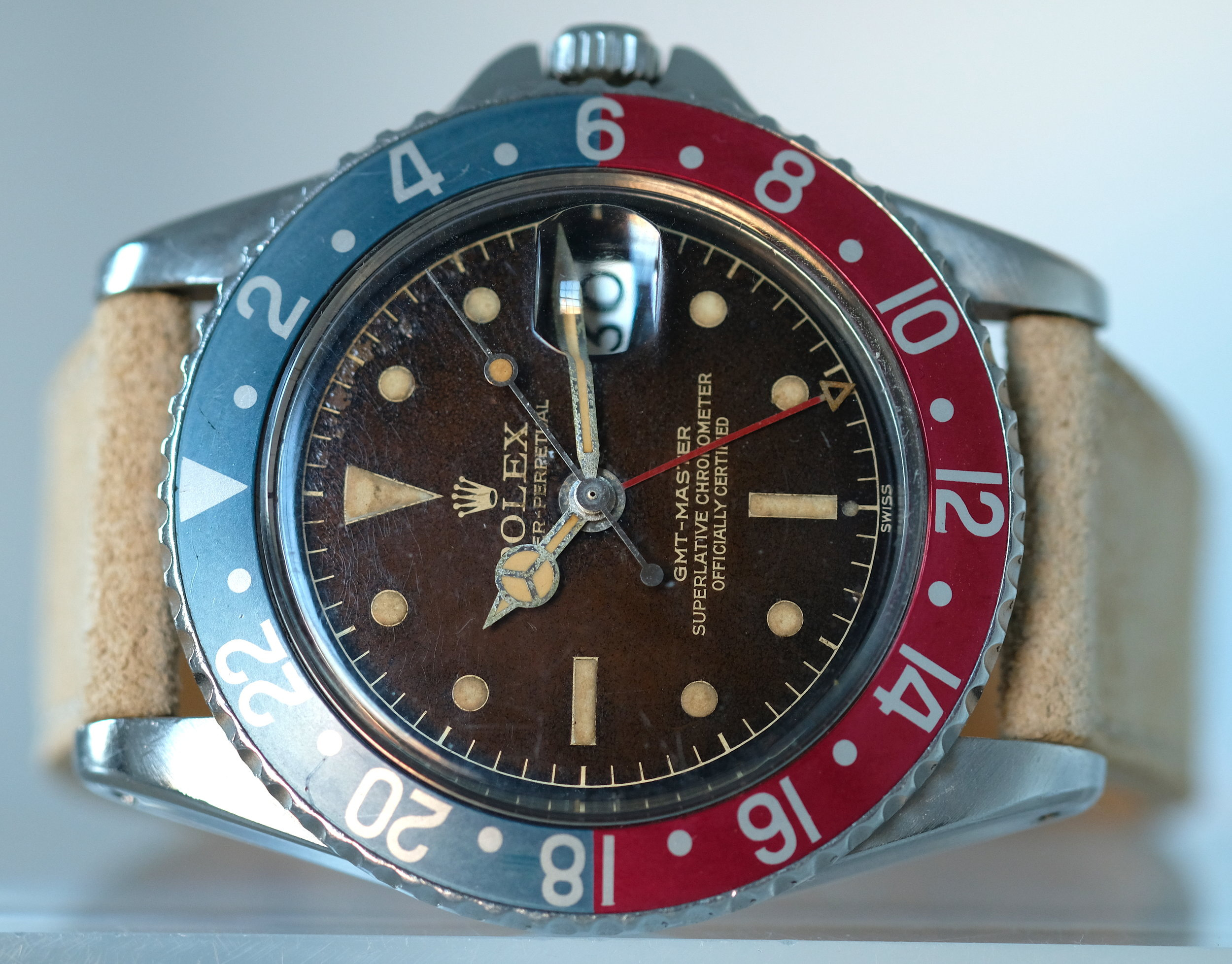 Rolex Oyster GMT Ref. 1675 PCG Exclamation Tropical  SOLD