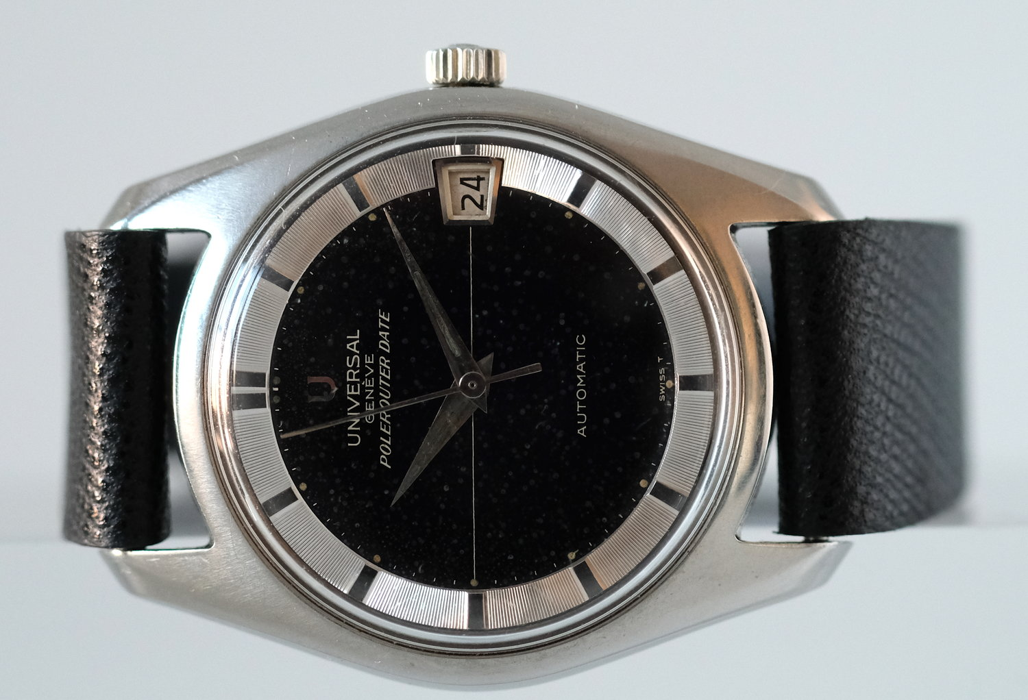 Universal Geneve Polerouter w/ date   SOLD
