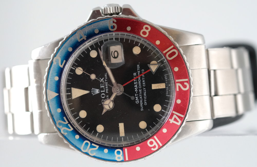 "Rolex Oyster GMT ""Long E"" GMT Ref. 1675*  SOLD"