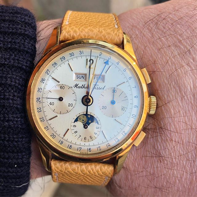 Mathey Tissot triple date moonphase chronograph .  #matheytissot #matheytissotwatch #triplecalendar #triplecalendarchronograph