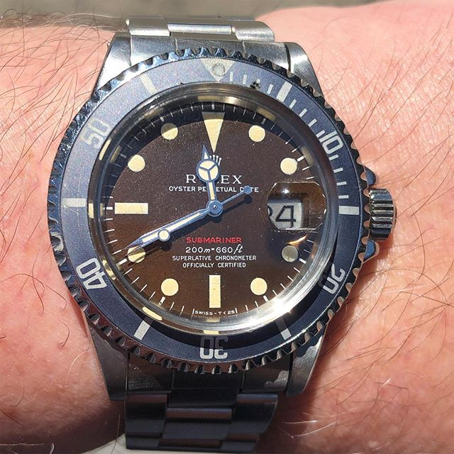 Rolex red submariner with tropical dial  #rolexsubmariner #rolexredsubmariner #rolexredsub #rolexredsubmariner1680 #rolextropical