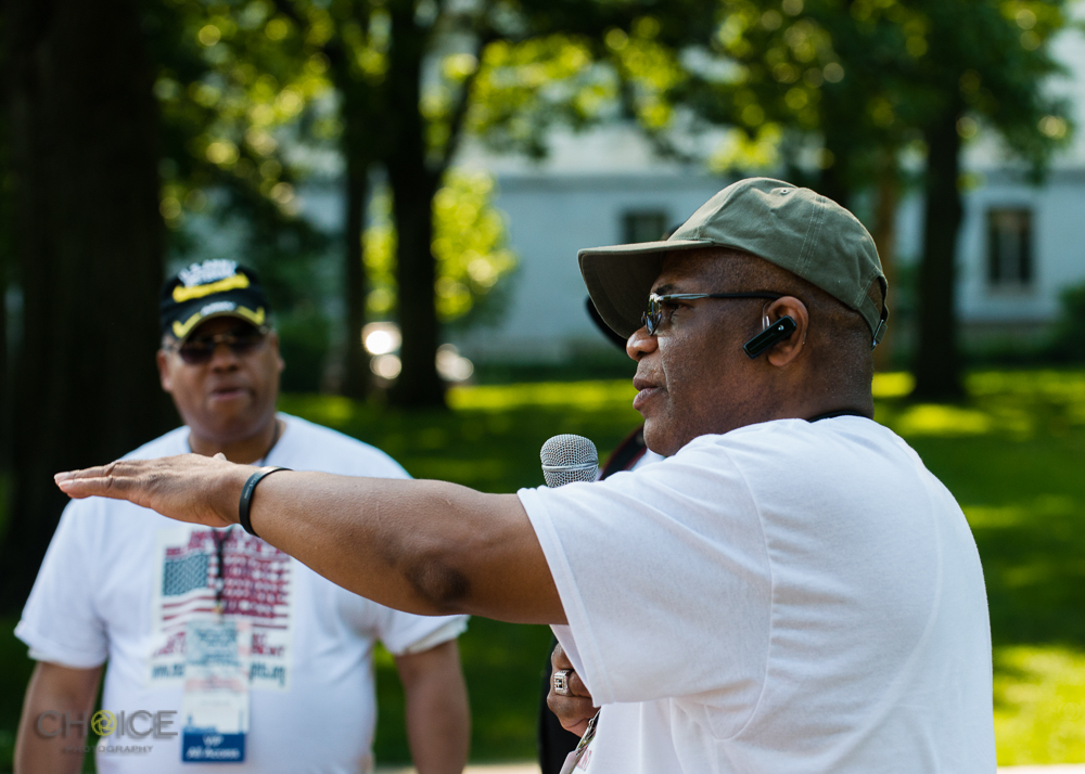 """Anthony C. Davis of America's Vets Helping Vets For Life speaks at """"March 4 Veterans Rights."""" Rally, May 28, 2016 Washington, D.C.(Rodney Choice/Choice Photography/www.choicephotography.com)"""