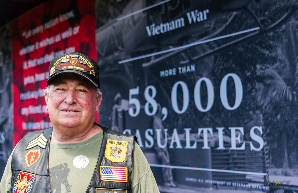 Ralph Ambrosia, 25th Infantry Division, Vietnam, 1966-1967 in front of Vietnam exhibit at The Poppy Memorial at the National Mall on May 26, 2018 in Washington, D.C. (Photo by Rodney Choice/AP Images for USAA)