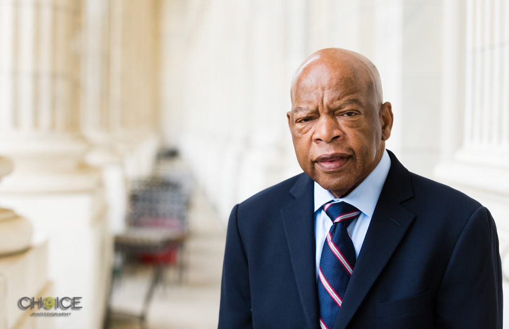 United States Congressman and civil rights icon John Lewis outside his Capitol Hill office in Washington, D.C. on June 13, 2018 (Rodney Choice/Choice Photography/www.choicephotography.com)