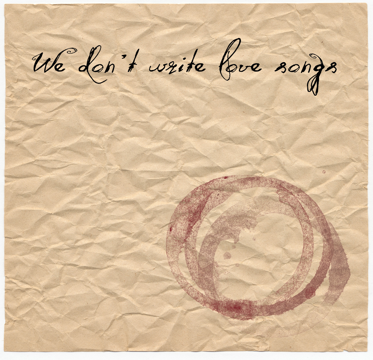 We dont write love songs cover_NoJP.jpg