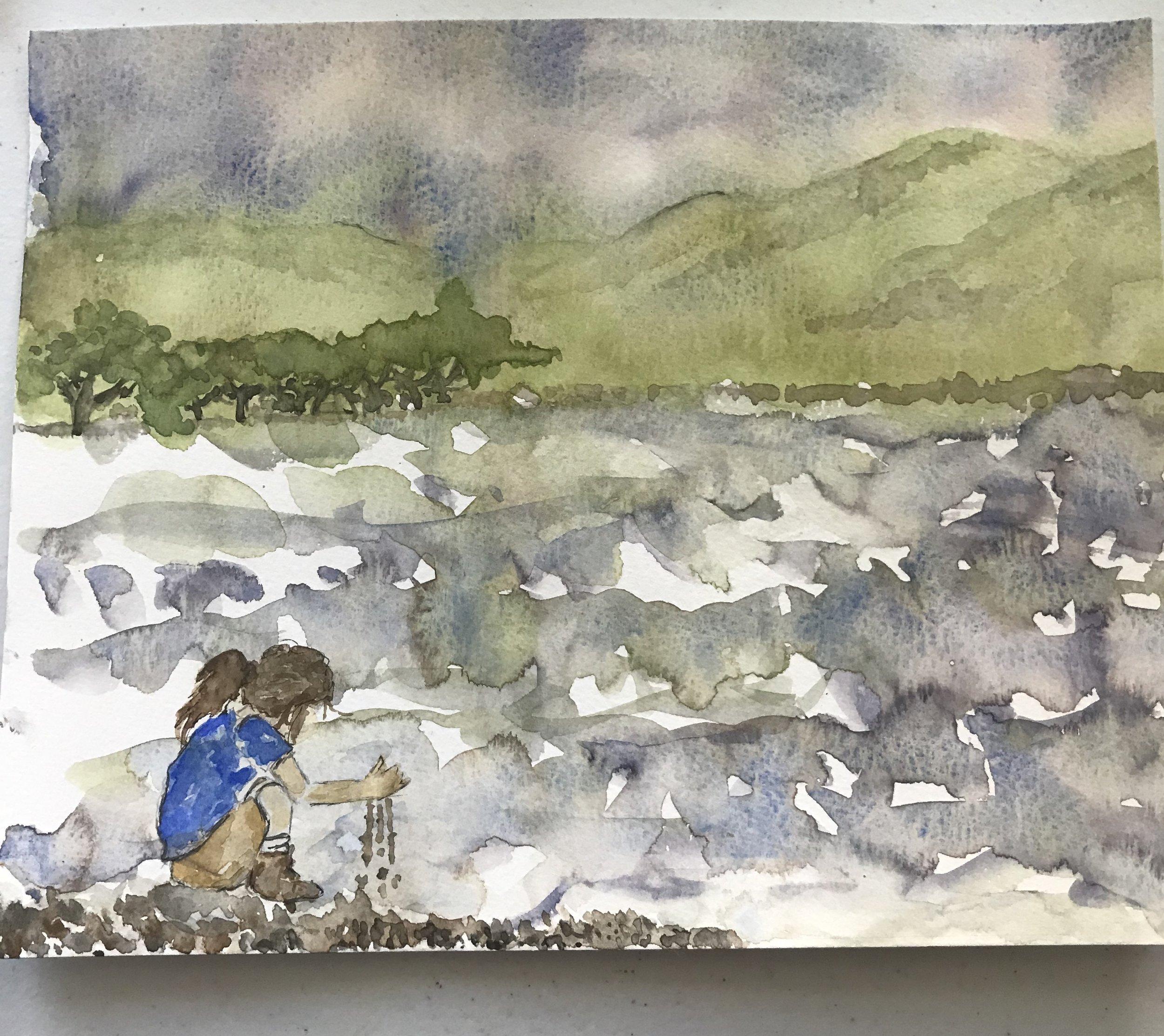 original watercolor by Elizabeth Esther, copyright 2017