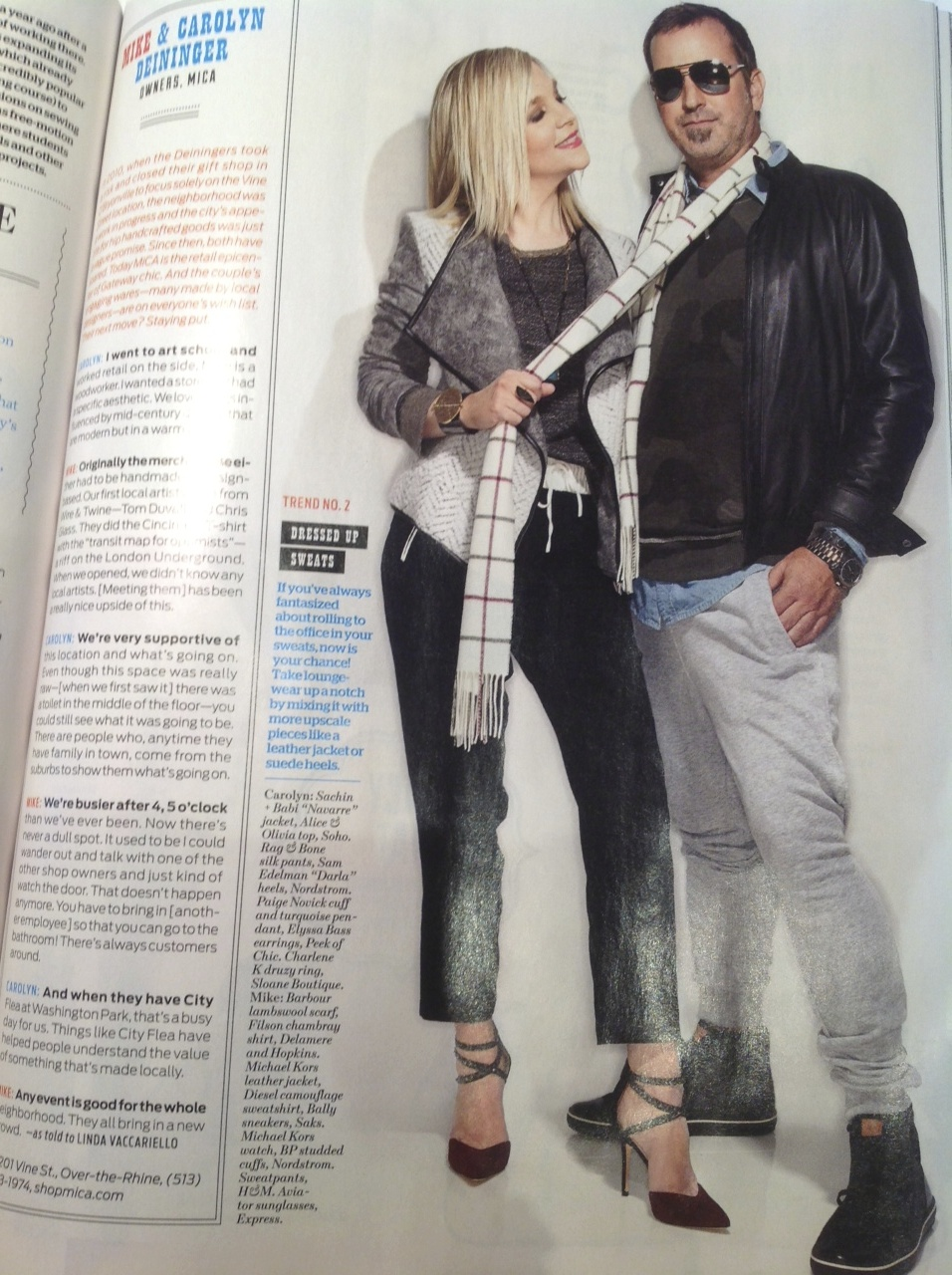 """Carolyn & Mike as photographed for Cincinnati Magazine's """"Best Little Shops"""" issue, Sept. 2014"""
