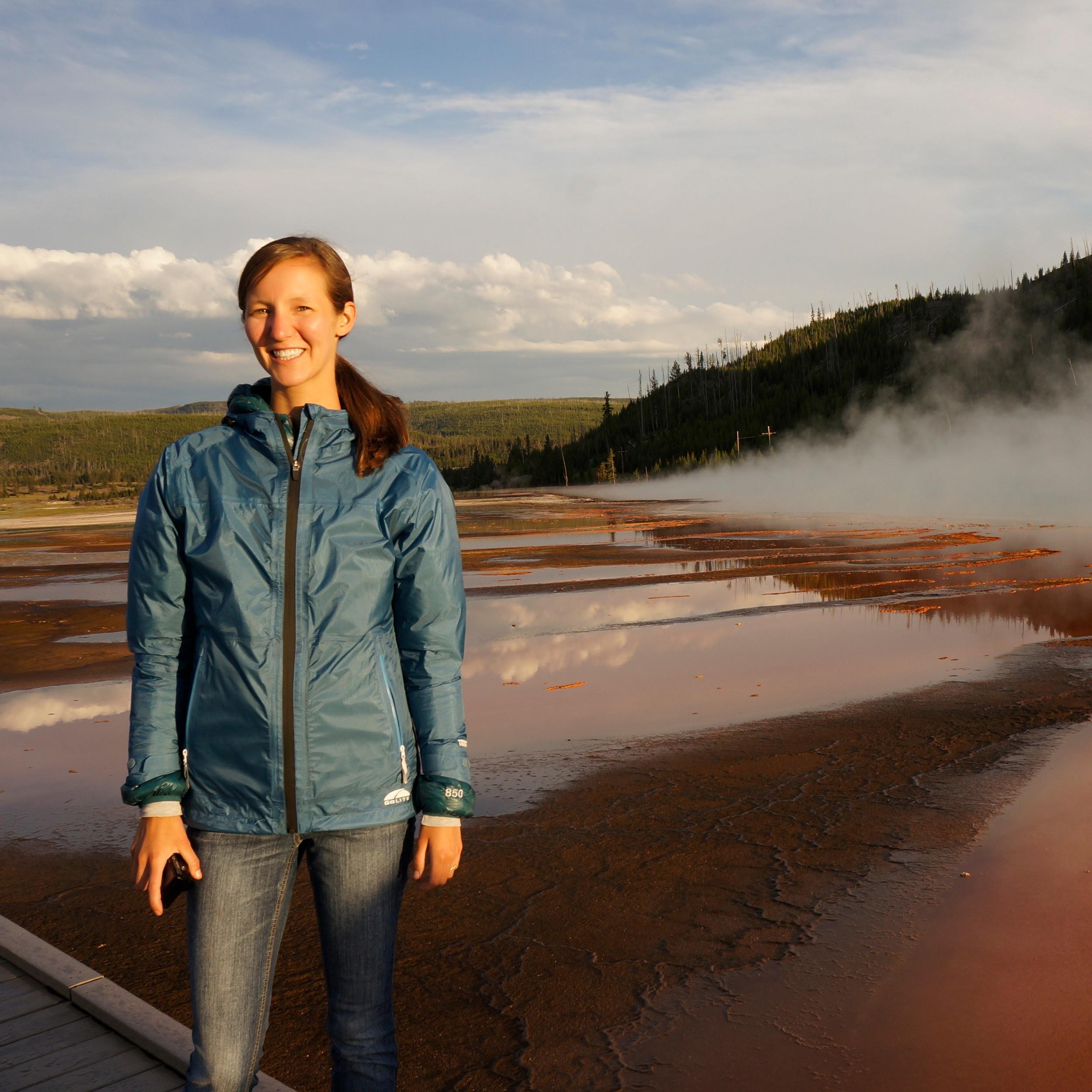 Barbara soaking up Yellowstone's beauty