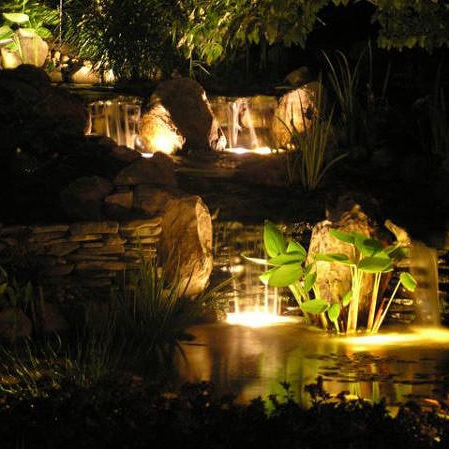 Landscape Lighting - Landscape lighting can be used to fully illuminate an outdoor space or to highlight specific landscape and architectural features.