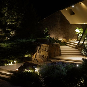 Pathway Lighting - Illuminating walkways, driveways, and stairs make moving around at night easier and safer.Pathway lighting increases visibility while enhancing the exterior decor.