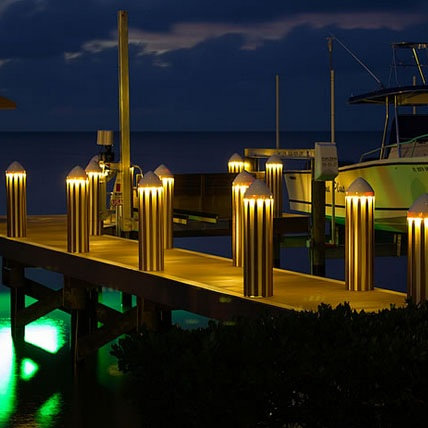 Dock Lighting - Light is invaluable everywhere, not just on land. Use dock lighting to get the functionality of illumination in a stylish manner, instantly making the water's edge safer.