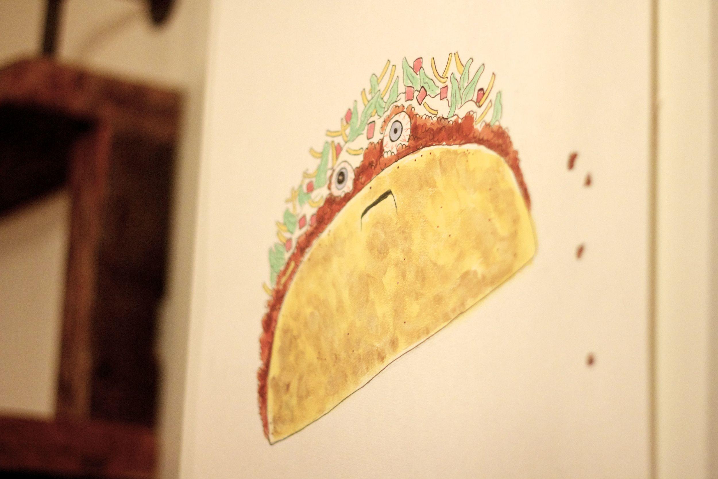 unhappy taco