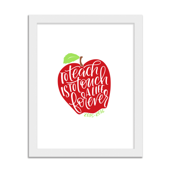Apple Quote Wall Art  (11x14) - $15