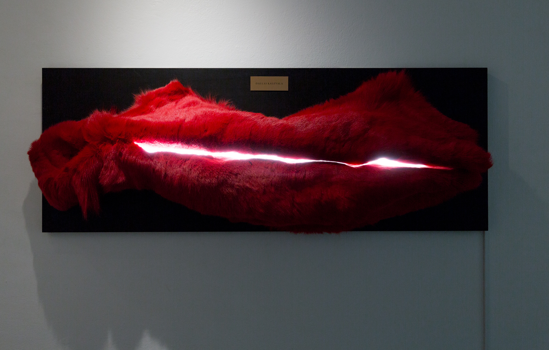 DALLAS KALEVALA (Colored reindeer skin, plywood, led light 170x50cm)