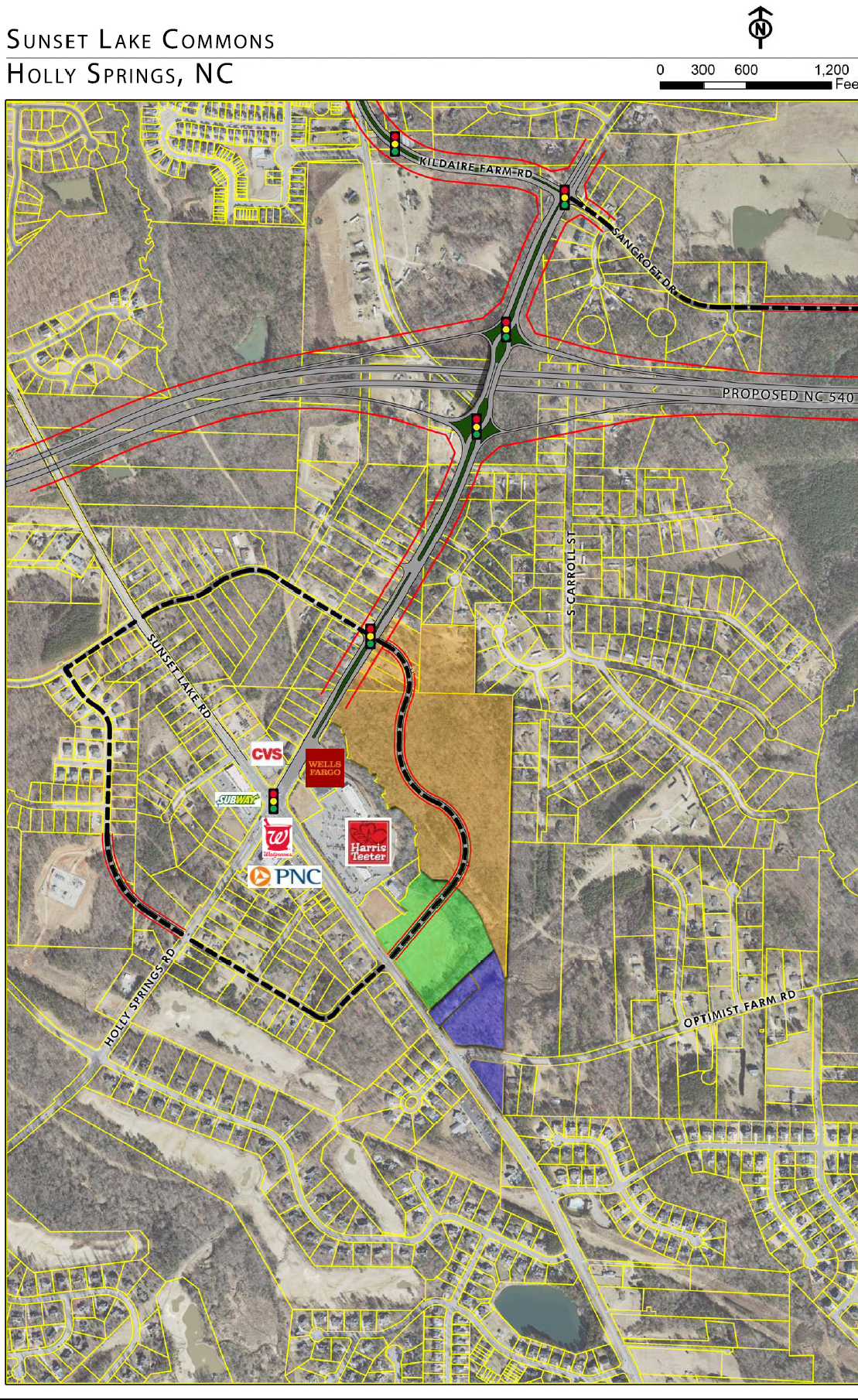 Sunset Lake Commons - Aerial - Future Interchange (labelled).png