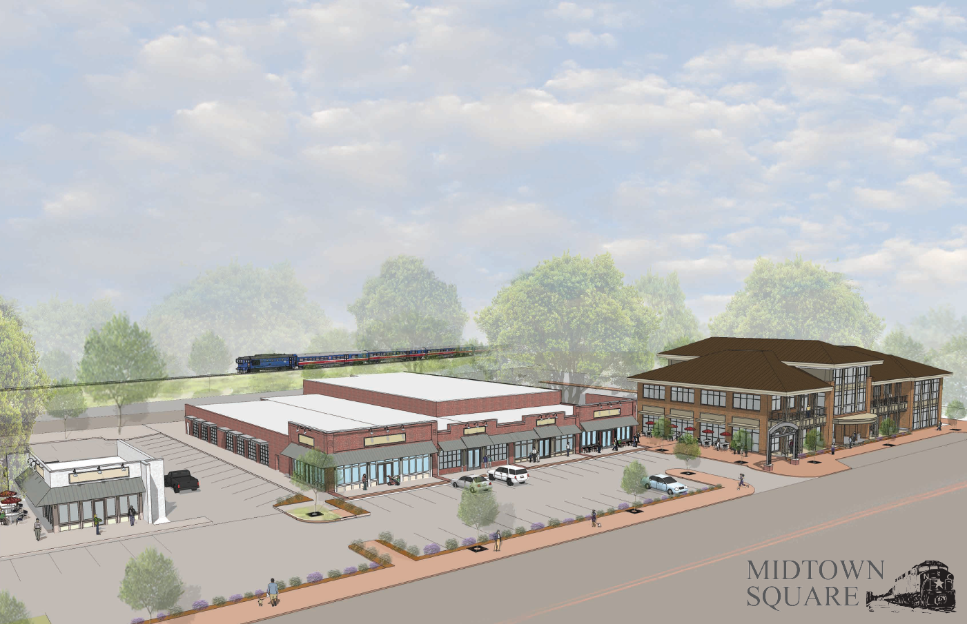 Mid-Town Square - Rendered View North