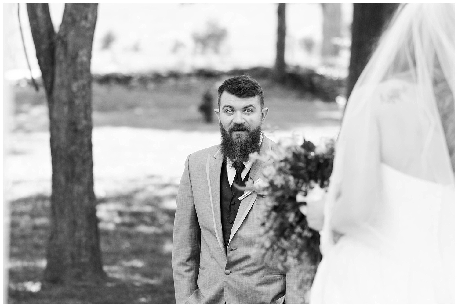 Nothing beats the face of a groom seeing his bride for the first time.