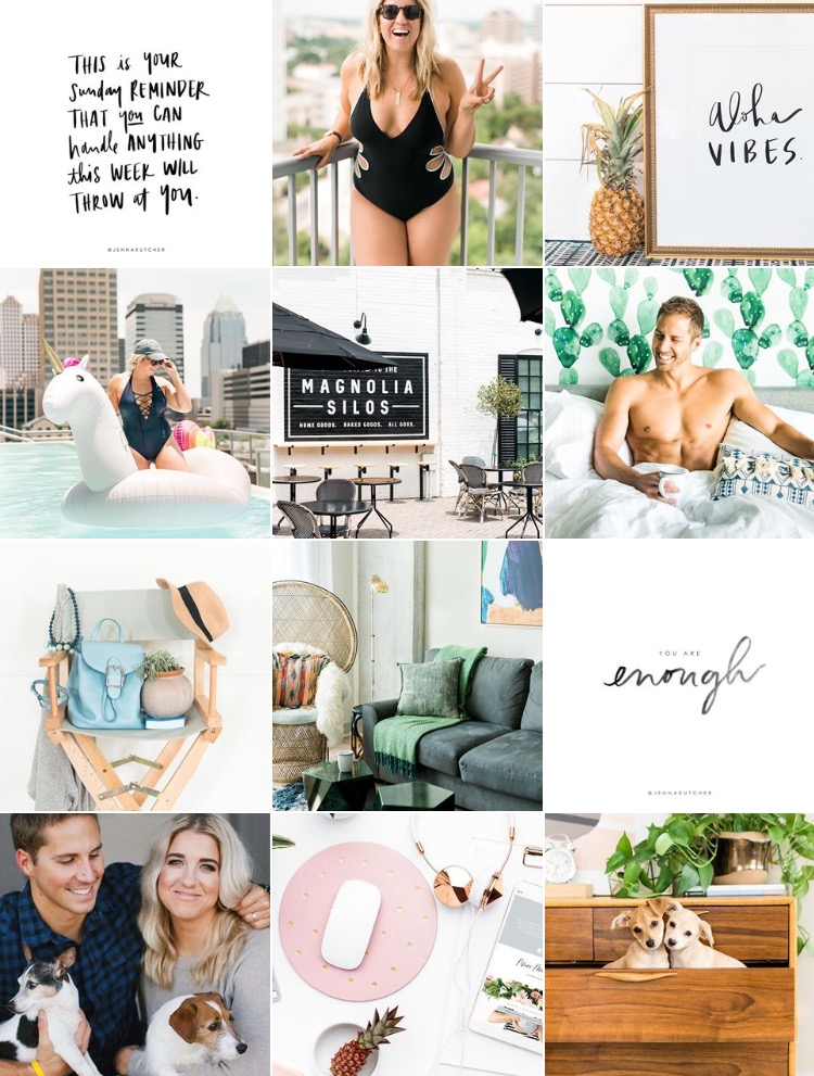 Her instagram is dreamy! Check it out at www.instagram.com/jennakutcher