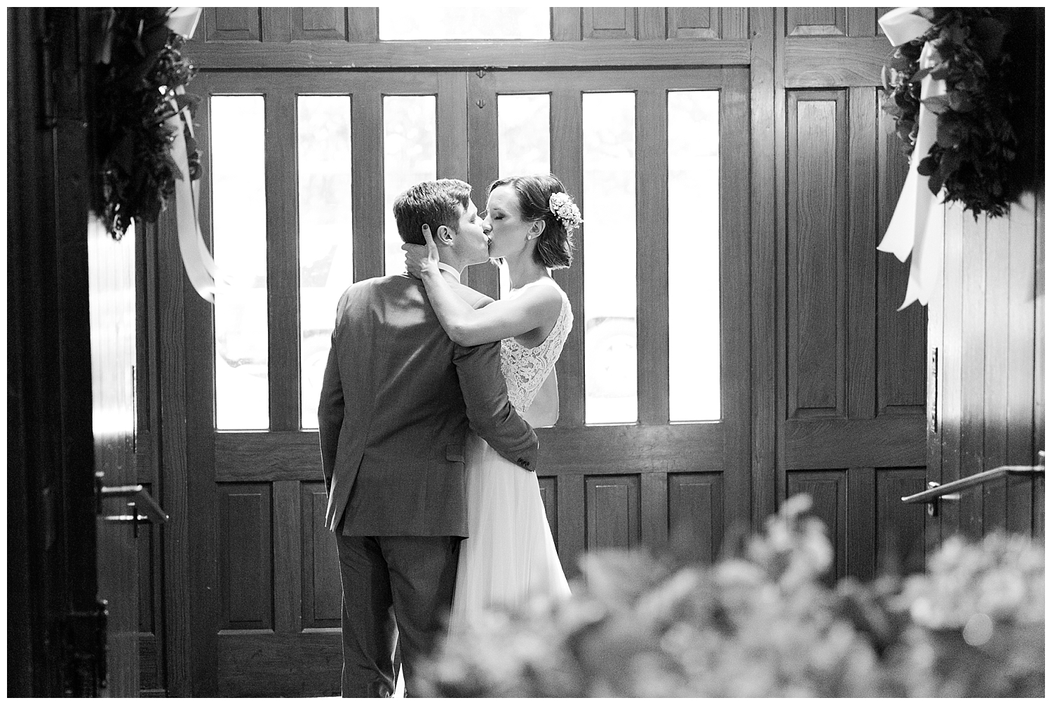 As soon as they got past the doors leading in to the sanctuary, these two shared the sweetest kiss!