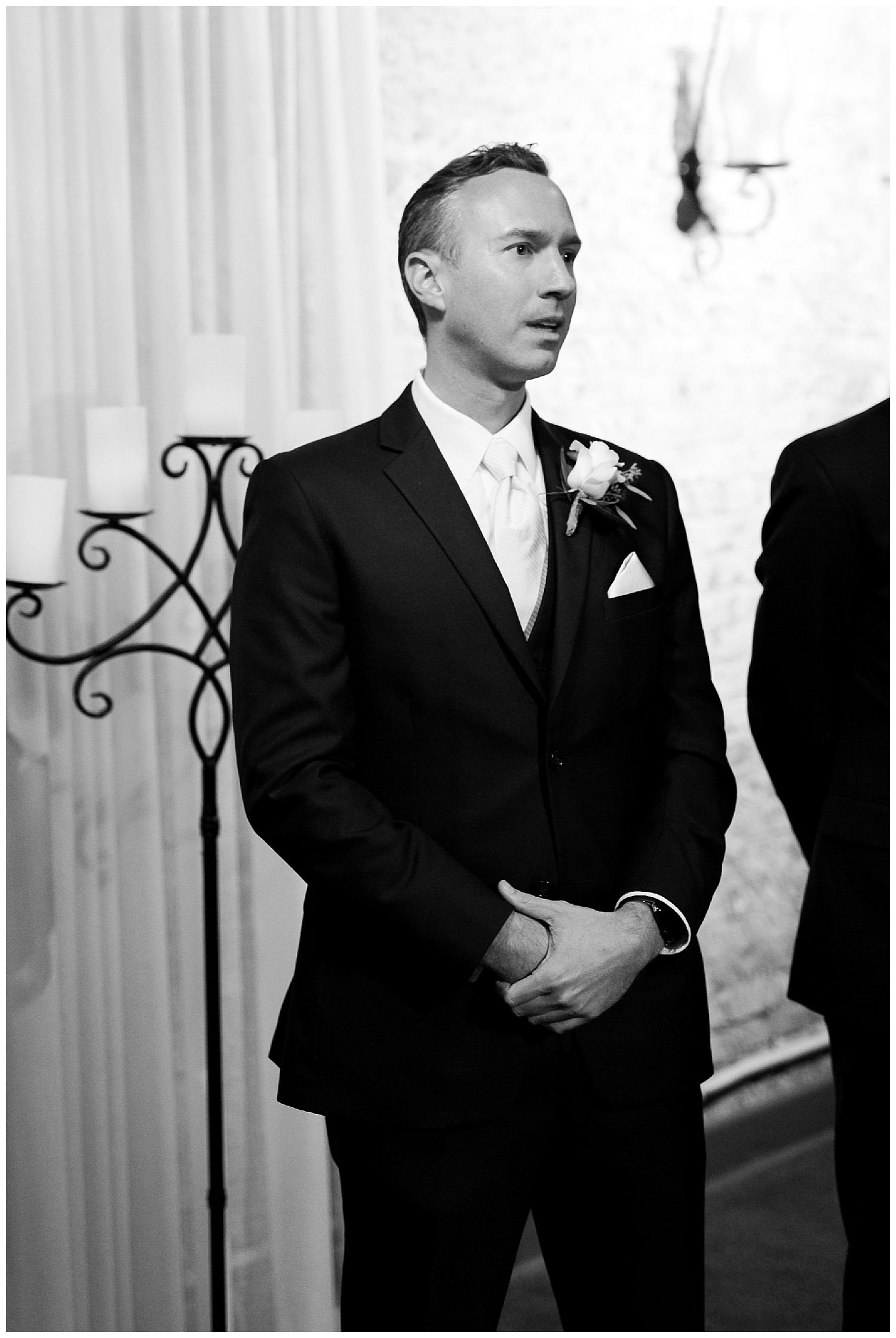 When he sees his bride walking towards him!!