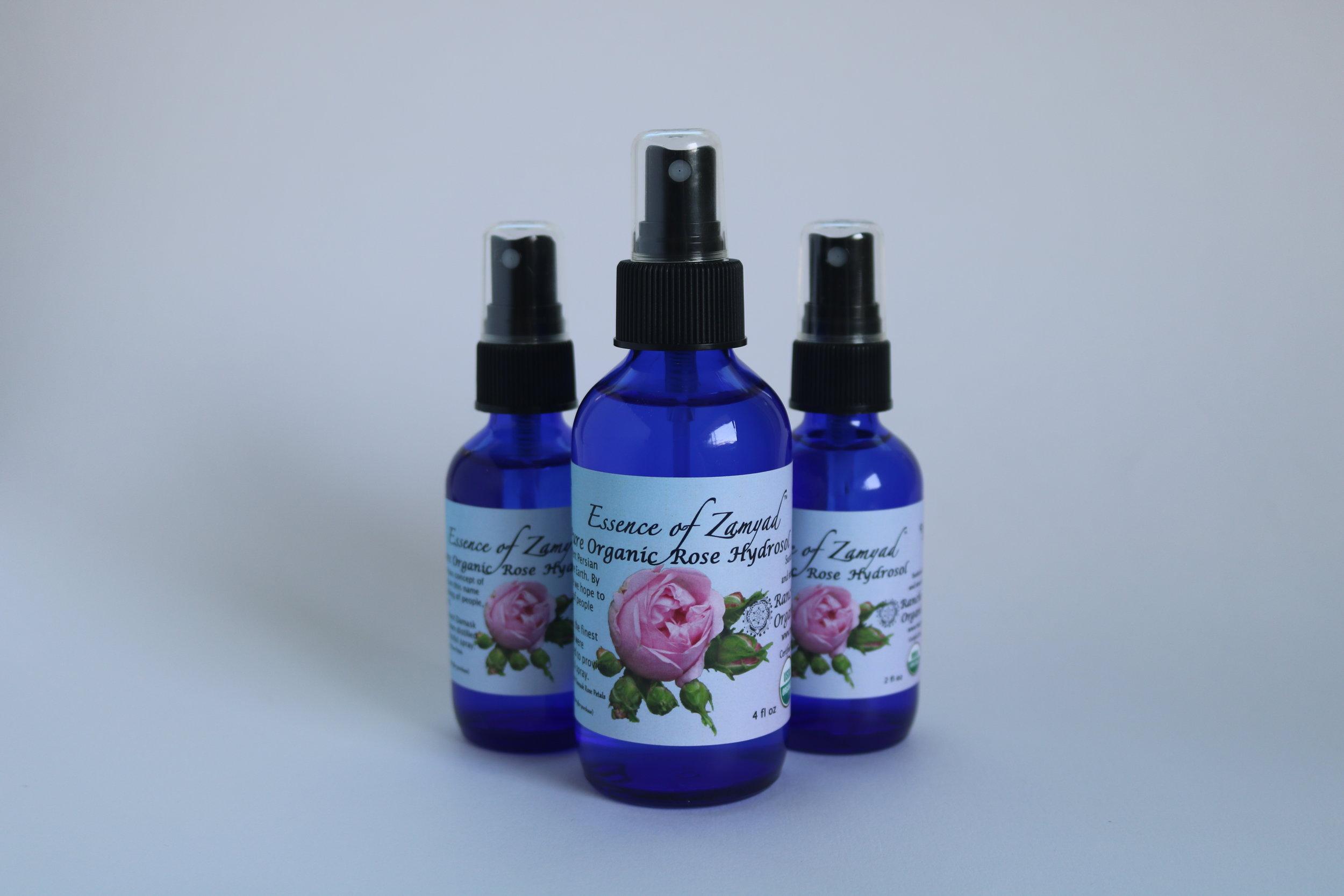Pure Organic Rose Hydrosol