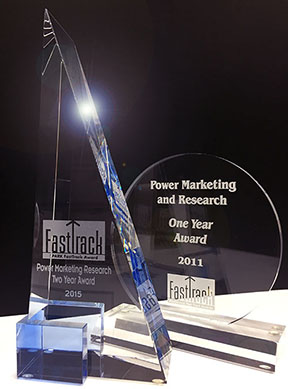 Power Marketing Research's 2011 and 2015 FastTrack Awards