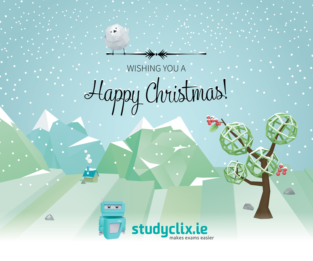 Studyclix Christmas visual