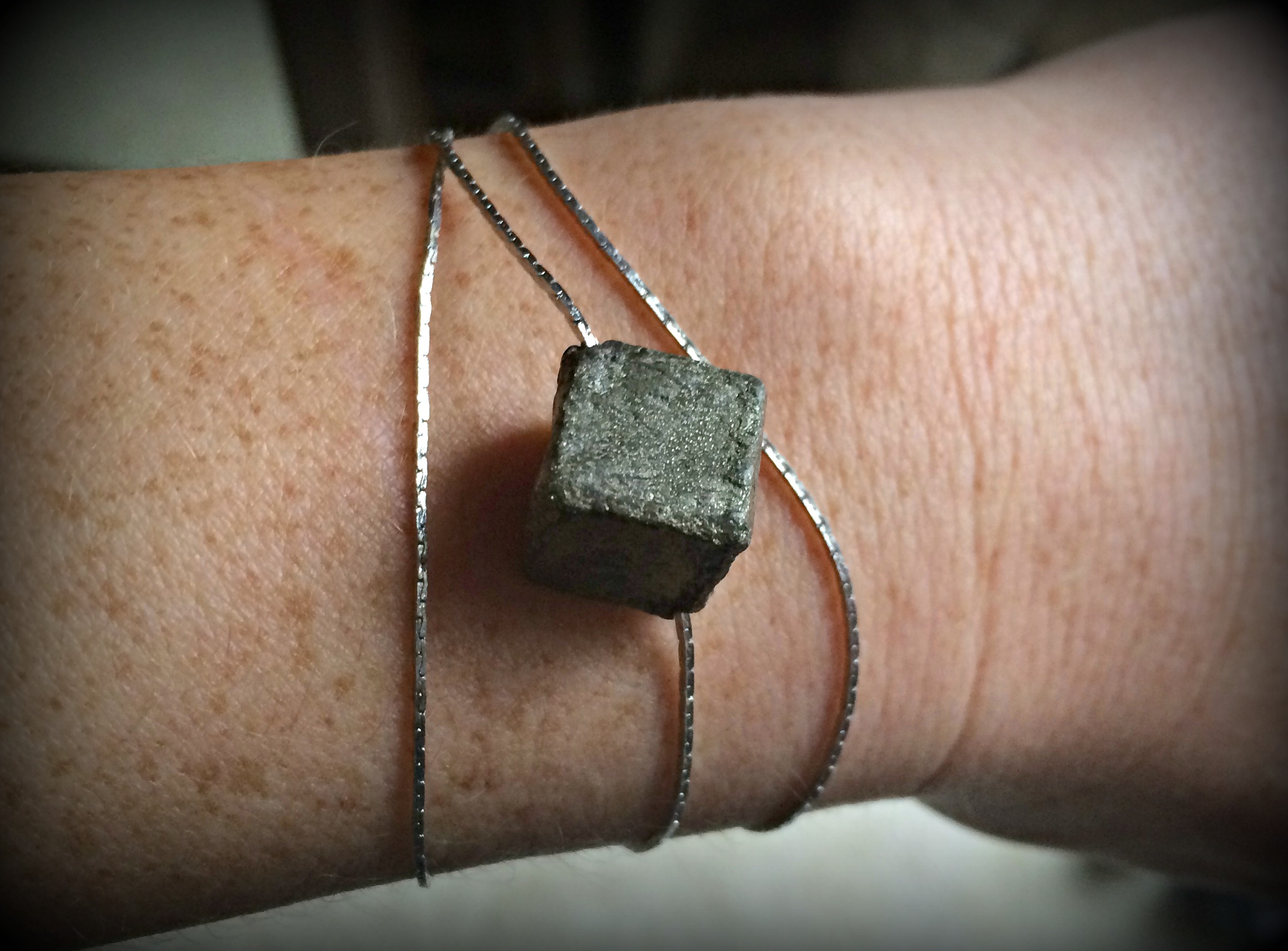 """I am SO loving this jewelry line right now. I seem to find some of my favorite and most unique jewelry designers on Instagram and this is another one! Linda Objet makes delicate, beautiful, and super affordable pieces.  I paired this   """"Pyrite Bracelet""""   with a pair of grey jeans, graphic tee, and a pair of wedges. This particular piece is so great because you can dress it up or dress it down!  Use  Coupon Code    """"ksstyle""""   for  20% off  your order!  https://www.etsy.com/shop/lindaobjet"""